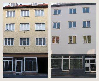 Vorher-Nachher Bild - MFH KfW Effizienzhaus 115 - Büro Weick Detmold